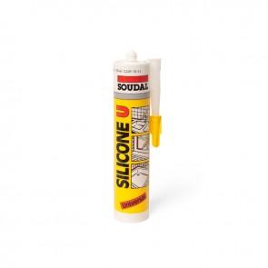 SOUDAL SILICONE U BELA - 290 ml
